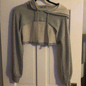 Charlotte Russe crop hoodie